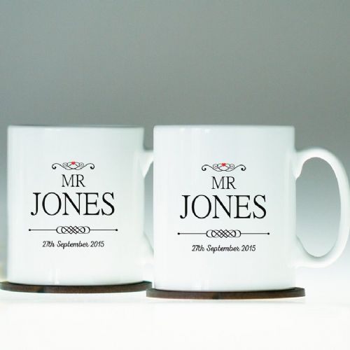 Personalised Mr and Mr Mug Set